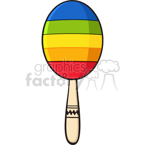 colorful mexican maracas vector illustration isolated on white background clipart. Royalty-free image # 399956