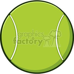 cartoon tennis ball vector illustration isolated on white