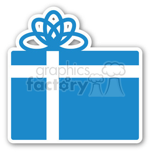 christmas gift sticker blue clipart. Royalty-free image # 400359
