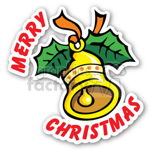 merry christmas bell sticker clipart. Royalty-free image # 400379