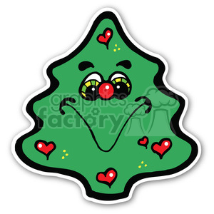 christmas tree sticker v3 clipart. Royalty-free image # 400404