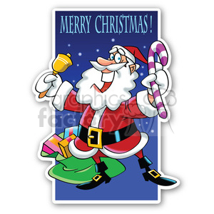 merry christmas santa sticker clipart. Royalty-free image # 400447