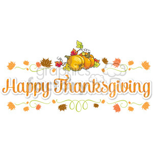 happy thanksgiving lettering design clipart. Royalty-free image # 400479