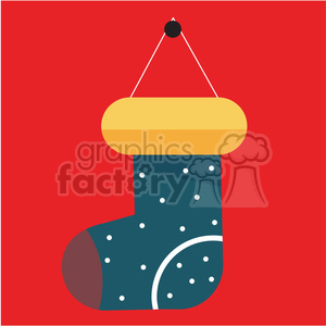 cartoon christmas stockings vector art clipart. Royalty-free image # 400503