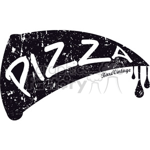 pizza logo food distressed fast+food black+white