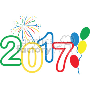 2017 celebration vector art