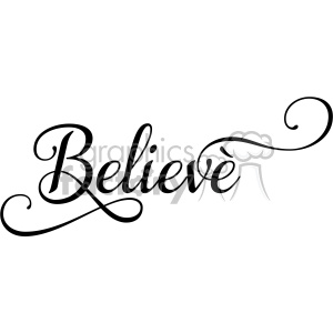 believe typography vector art clipart. Royalty-free image # 400613