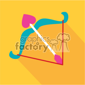 cupids bow and arrow valentines flat design vector icon art clipart. Commercial use image # 402292