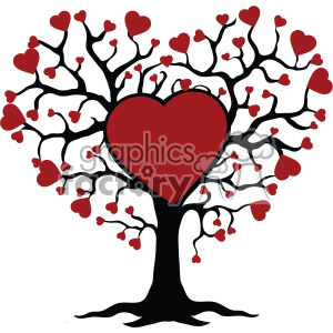 family tree of love svg cut files vector valentines die cuts clip art clipart. Royalty-free image # 402302