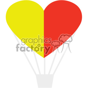 love hot air balloon made of a heart svg cut files vector valentines die cuts clip art clipart. Royalty-free image # 402312