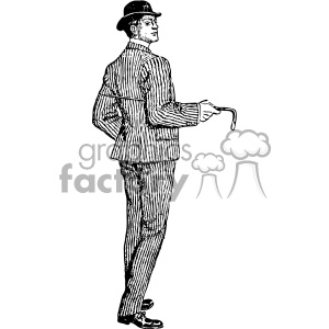 1901 man in suit vintage male suit vintage 1900 vector art GF clipart. Royalty-free image # 402450