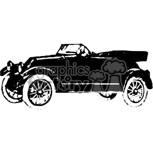 vintage retro old black+white roadster car distressed automobile tattoo