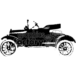 old vintage distressed runabout car retro vector design vintage 1900 vector art GF clipart. Royalty-free image # 402595