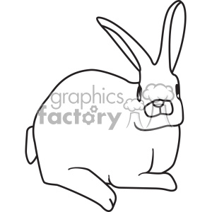 rabbit svg cut file vector outline clipart. Commercial use image # 402615