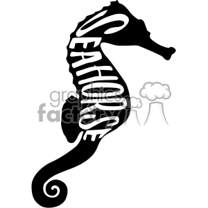seahorse typography vector svg cut file dxf die cuts clip art clipart. Royalty-free image # 402647
