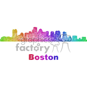 city skyline vector clipart USA Boston clipart. Royalty-free image # 402670