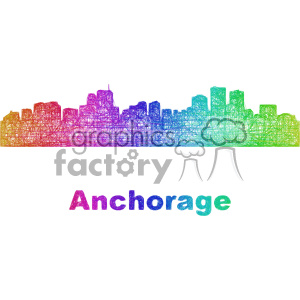 city skyline vector clipart USA Anchorage clipart. Commercial use image # 402690