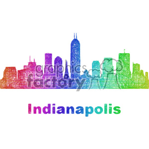 city skyline vector clipart USA Indianapolis clipart. Commercial use image # 402710