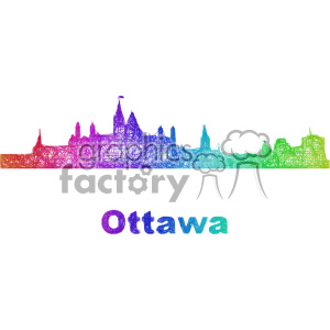 city skyline vector clipart CAN Ottawa clipart. Commercial use image # 402720