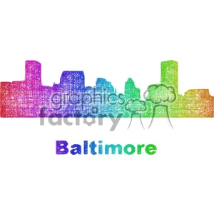 city skyline vector clipart USA Baltimore clipart. Commercial use image # 402730