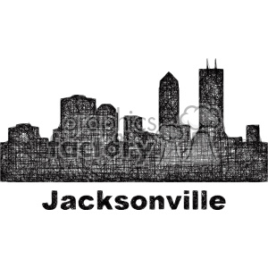 black and white city skyline vector clipart USA Jacksonville clipart. Commercial use image # 402740