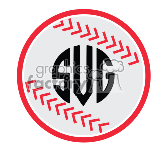 baseball monogram icon svg cut file vector
