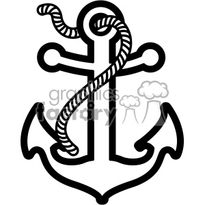 anchor with rope svg cut file