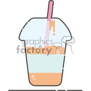 Sippi cup juice flat vector icon design