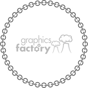 circle chain link vector clipart. Royalty-free image # 403243
