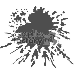 paint splat splatter design vector art v5 clipart. Royalty-free image # 403253