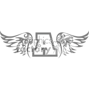 wings aviation logo layout design