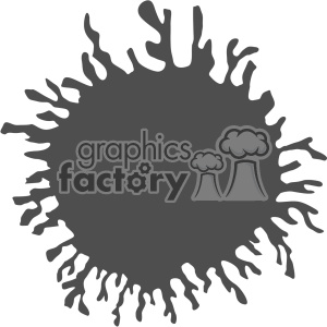circle paint splat splatter design vector art v1 clipart. Royalty-free image # 403273