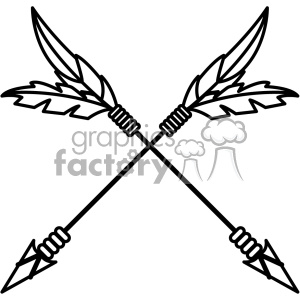 arrows crossed vector design 06 clipart. Royalty-free image # 403283