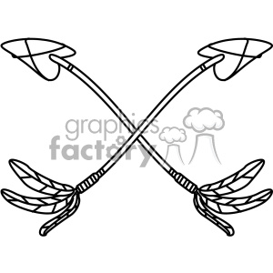 crossed bent arrow vector design 10 clipart. Royalty-free image # 403293