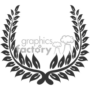 branch wreath design vector art v3 clipart. Commercial use image # 403303