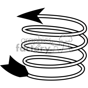 spiral arrow vector design 12 clipart. Royalty-free image # 403313