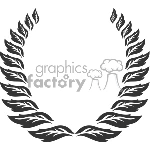 branch wreath design vector art v2