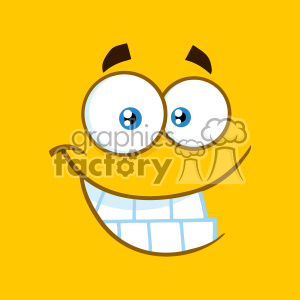 10898 Royalty Free RF Clipart Smiling Cartoon Square Emoticons With Smiley Expression Vector With Yellow Background