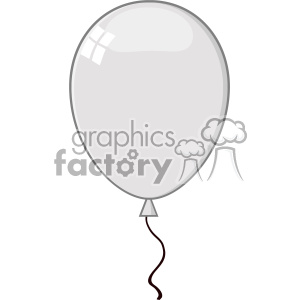 10762 Royalty Free RF Clipart Cartoon Gray Balloon Vector Illustration clipart. Royalty-free image # 403509