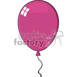 10741 Royalty Free RF Clipart Cartoon Bright Violet Balloon Vector Illustration