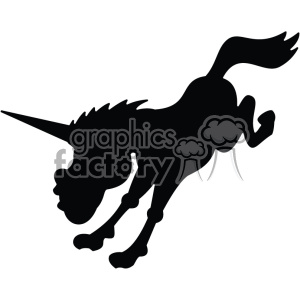 unicorn silhouete svg cut file 3 clipart. Royalty-free image # 403733