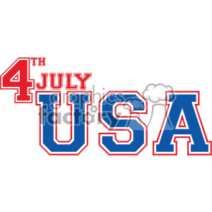 4th of july USA vector icon clipart. Royalty-free image # 403801
