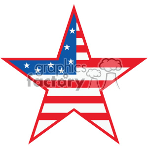 4th of july USA star vector icon clipart. Royalty-free image # 403811