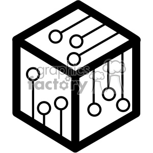 blockchain node vector icon