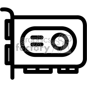 graphics card gpu icon clipart. Commercial use image # 403835