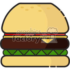 Burger clip art vector images clipart. Royalty-free image # 403847