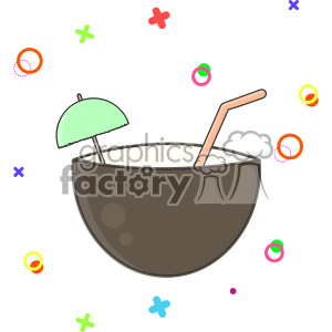 Coconut Shell clip art vector images clipart. Commercial use image # 403850
