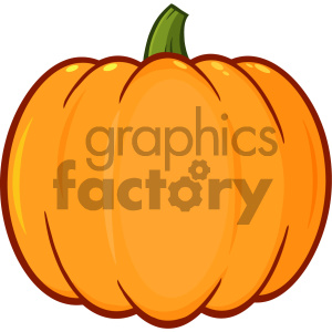 Pumpkin Fruit Cartoon Drawing Simple Design Vector Illustration Isolated On White Background clipart. Commercial use image # 403944