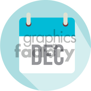 december calendar vector icon clipart. Royalty-free image # 403992