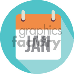 january calendar vector icon clipart. Royalty-free image # 403995